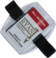 Armband Badge Holder w/ Black Elastic Velcro (Pack of 50)
