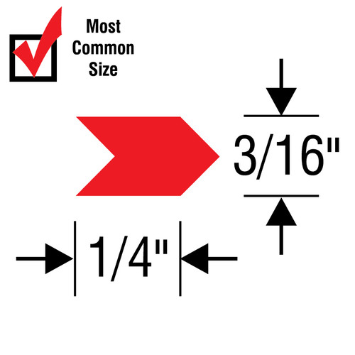 """#3 Inspection Arrows Sheets (1/4"""" x 3/16"""")"""