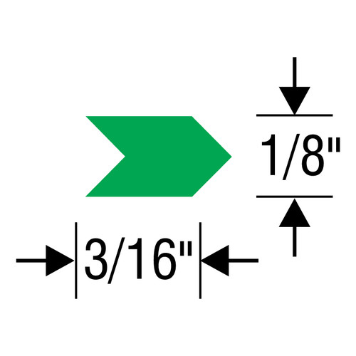 """#2 Inspection Arrows Sheets (3/16"""" x 1/8"""")"""