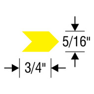 "#5 Inspection Arrows Sheets (3/4"" x 5/16"")"