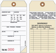 Inventory Tags 2-Part Carbonless with Removable Self-Adhesive Transfer Tape (Box of 500)