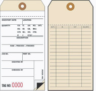 Inventory Tags - 2 Part Carbon Interleaf (Box of 500)