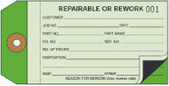Two Part Repairable or Rework Tag  2 Part Carbon Interleaf (Box of 500)