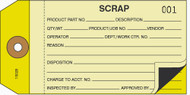 Two Part Scrap Tag  2 Part Carbon Interleaf (Box of 500)