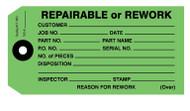 IT 1003 Repairable or Rework Tags - Dark Green