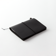 Traveler's Notebook - Black Leather Journal Cover + Kit (Passport Size)