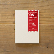 Traveler's Notebook - Journal Insert Refill 008 Sketch Paper (Passport Size)