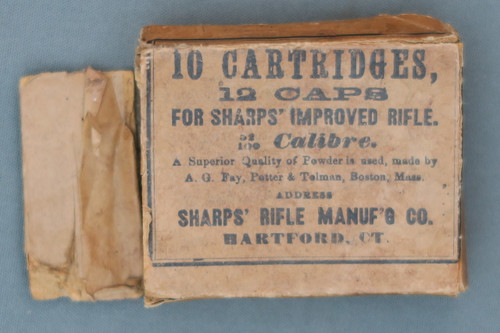 Sharps Rifle Manuf'g Co. Cartridge Box Top