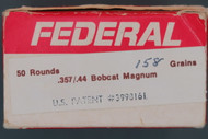 .357/.44 Bobcat Magnum Ammunition Box Left End
