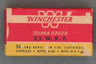 Winchester Super Speed 22 WRF Ammo Top