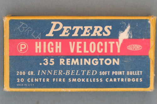 Peters High Velocity .35 Remington 200 Grain Inner-Belted Soft Point Bullet Cartridges