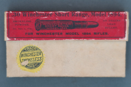 .30 Winchester Short Range, Model 1894 Ammo Box, Front