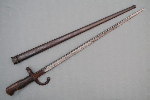 French 1874 Gras Bayonet with Matching Scabbard, Right Side