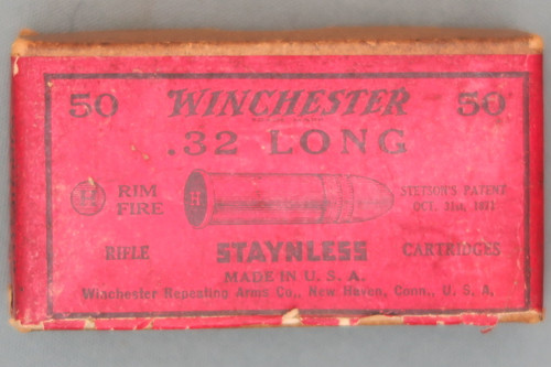 Winchester 32 Long Rimfire Staynless Ammunition Top View