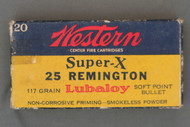 Western Super-X 25 Remington 117 Grain Lubaloy Soft Point Bullet Ammunition Top