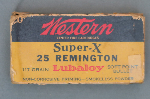 Western Super-X 25 Remington Shooter Ammo Top