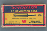 Winchester .25 Remington Auto. Ammunition Top Side