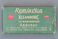 25 Remington Kleanbore Express Ammo Top