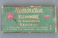 Remington Kleanbore 25 Remington Express Ammunition Front