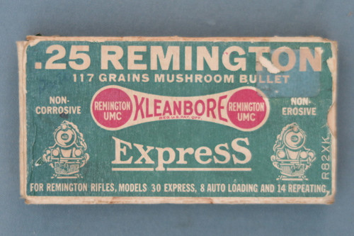 .25 Remington 117 Grains Mushroom Bullet Kleanbore Express Ammunition Front