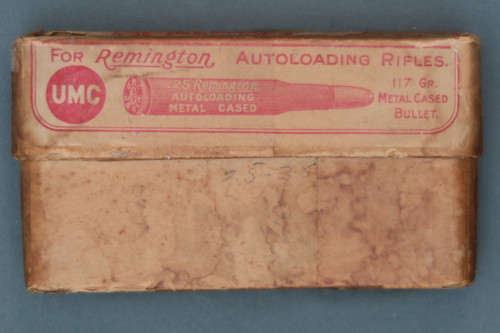 25 Remington Autoloading Rimless C.F. Cartridges Front