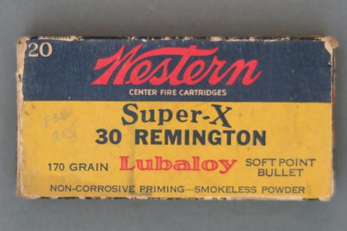Western Super-X 30 Remington 170 Grain Lubaloy Soft Point Bullet Cartridges Front