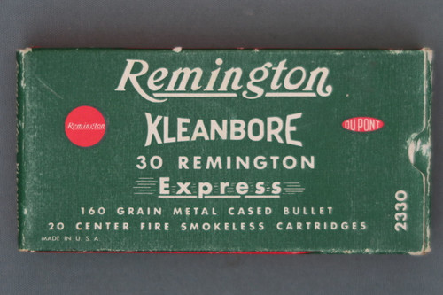 Remington Kleanbore 30 Remington Express 160 Grain Metal Cased Bullet Ammo Front