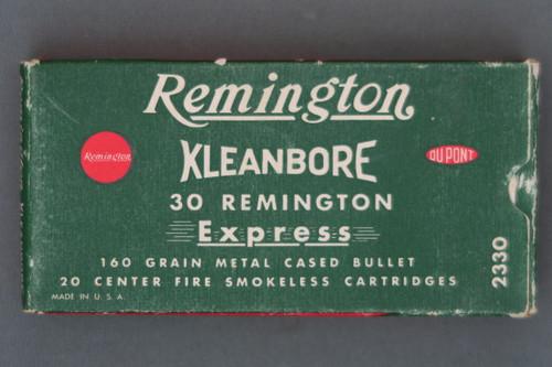 Remington Kleanbore 30 Remington Express 160 Grain Metal Cased Bullet Ammo Front