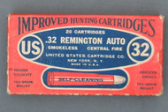 .32 Remington Auto Smokeless Improved Hunting Cartridges Front
