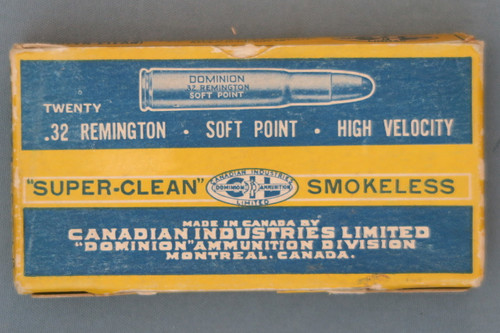 .32 Remington Soft Point High Velocity Ammo by CIL Front
