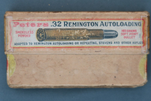 Peters .32 Remington Autoloading Ammo Front