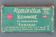 Remington Kleanbore 32 Remington Express Ammunition Front