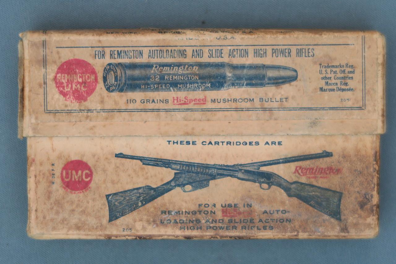 32 Remington Hi-Speed Smokeless Mushroom Two Piece Box