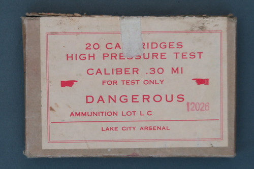 20 Cartridges High Pressure Test Caliber .30 M1 For Test Only DANGEROUS