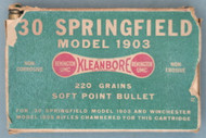 30 Springfield Model 1903 Kleanbore 220 Grains Soft Point Bullet