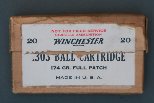 Winchester .303 Ball Cartridge Not For Field Service Rejected Ammunition Front