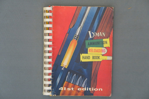 Lyman Ammunition Reloading Hand Book 41st Edition