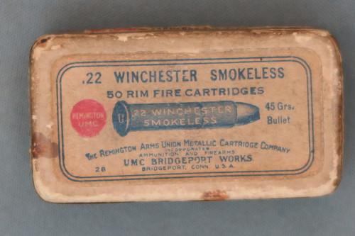 .22 Winchester Smokeless Rim Fire Cartridges by Remington Arms Union Metallic Cartridge Company, Top