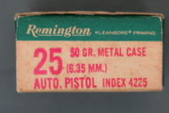Remington 25 Auto Pistol (6.35 mm) Cartridges, Left End