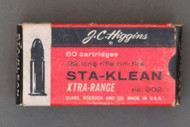 J. C. Higgins Sta-Klean Xtra-Range 22 Long Rifle Rim Fire Cartridges Top