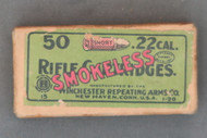 Winchester 22 Short Smokeless Rifle Cartridges 1-20 Top