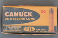 Canuck 25 Stevens Long Rimfire Box Top