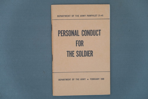 Department of the Army Pamphlet 21-41 Personal Conduct For The Soldier