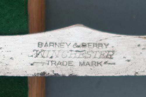 Winchester Barney & Berry Saranac Ice Skates, Company Markings