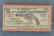 .38 Caliber Cartridges Center Fire for Smith & Wesson 38 Revolver, Top