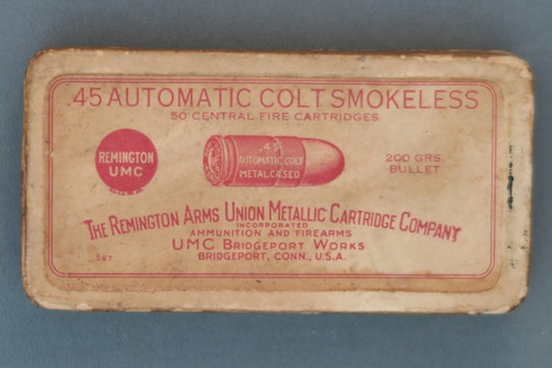 .45 Automatic Colt Smokeless Central Fire Cartridges Top