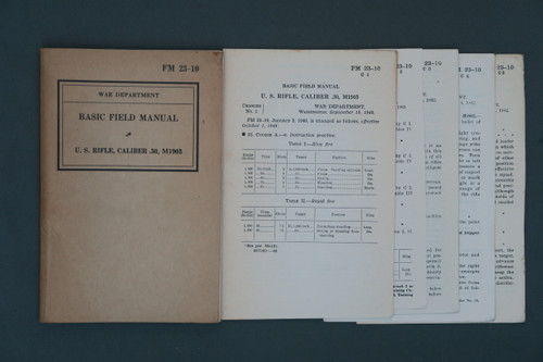 Basic Field Manual 23-10 U.S. Rifle, Caliber 30, M1903