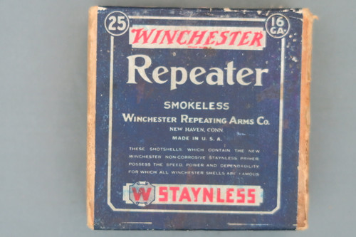 Winchester 16 Gauge Repeater Smokeless Staynless Shot Shells, Top
