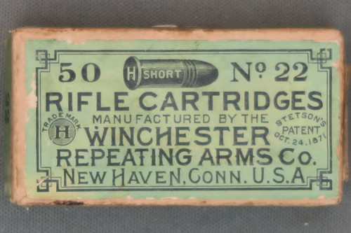 50 Short No. 22 Rifle Cartridges by Winchester, Top