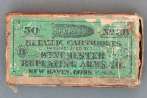 50 Short No. 38 Metallic Cartridges by Winchester Repeating Arms Company, Top